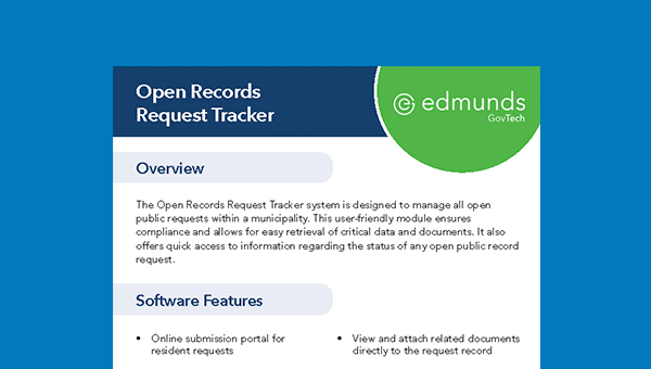 Open Records Request Tracker Sheet