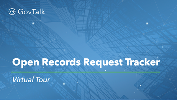 Open Records Request Tracker Software Tour