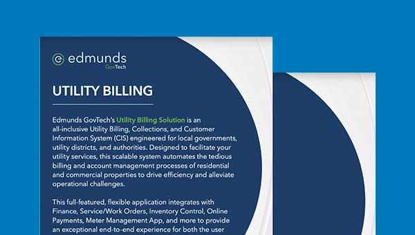 Utility Billing & Collections Product Sheet